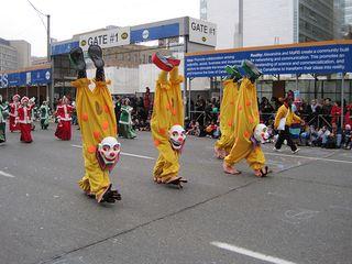 Upside down clowns